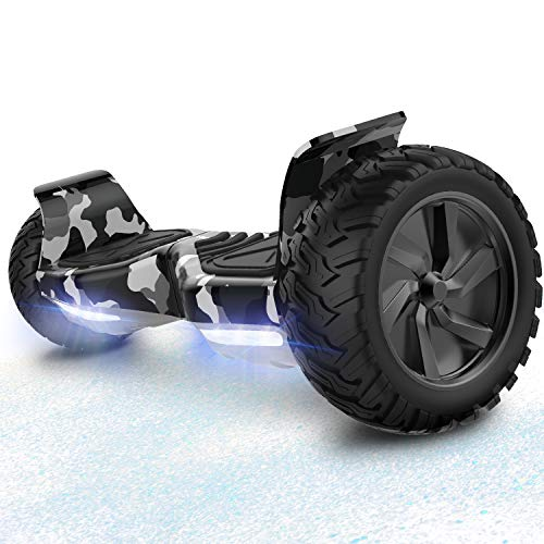 RCB Hoverboard Patinete eléctrico Offroad Patinete 8.5 '' Hummer LED ...